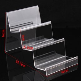 Wholesale Product Width - Free shipping three layer width widened acrylic plexiglass digital products accessories display shelf