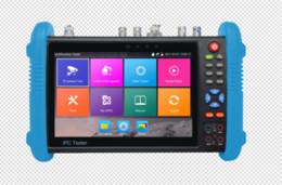Wholesale Analog Monitors - New 7 inch six in one IP CCTV tester monitor analog AHD TVI CVI SDI camera tester H.265 4K 4MP 5MP ONVIF wifi POE 12V