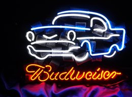 Wholesale Neon Light Sign Car - New HIGH LIFE Neon Beer Sign Bar Sign Real Glass Neon Light Beer Sign ME 302- Budweiser-Car 16x12