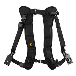 Wholesale Shockproof Dslr - vintage camera shoulder strap for SLR DSLR Nikon Canon Sony Panasonic quick straps black double shoulder straps fast photography sling