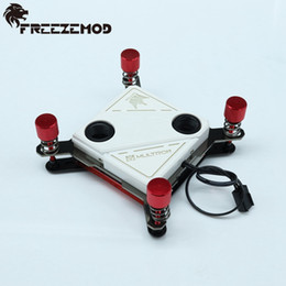 Wholesale wholesale cpu processors - Wholesale- FREEZEMOD copper 60*60mm CPU water cooling block with white light slow flashing for IN TEL platform. IN TEL-PM04