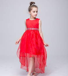 Wholesale Elegant Party Dress Bowknot - Elegant Christmas New Year Baby Girls Long Tail Dress Kids Bowknot Trailing Gown Dress Birthday Wedding Party Tutu Dress