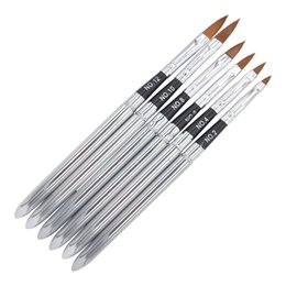 Wholesale Kolinsky Gel Brush - 100% Kolinsky Sable Brush Professional nail brush for kolinsky acrylic nail brushNail Art Gel Design pen