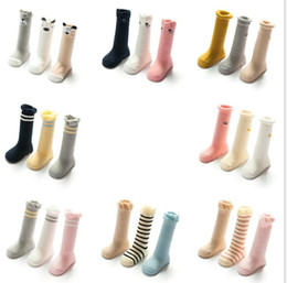 Wholesale Stock Brand Shoes - Winter warm Nonskid baby cotton socks anti-slip kids stocking Nonslip Toddler Footgear Baby Shoe Sock baby booties sox