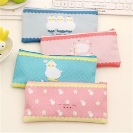 Wholesale Sheep Pencil Case - Wholesale-New Arrival Cute Sheep Zipper Pencil Case High Quality Wearproof Oxford Pencil Bag Stationery For School Students W2.5