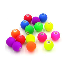 Wholesale Neon Fluorescent Beads - 2000pcs Mixed Matte Fluorescent Neon Beads Acrylic Spacer Ball Round Bead for Jewelry Making 6mm