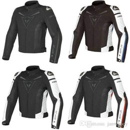 Wholesale Red Jacket Ship - Free shipping New arrival Super Speed Textile Motorcycle Jacket summer models mesh fabric coat windproof White Black red blue 4 colors