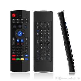 Wholesale 2 G Wireless Remote Controls MX3 Fly Air Mouse Keyboard for Android TV box MXQ M8S Mini PC