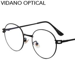 b3cc5539a45 Vidano Optical New Arrival Round Vintage Men Eyeglasses For Women Glasses  Flat Lens Old School Retro Summer Fashion UV400 Coated Lens