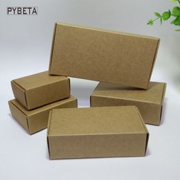 Wholesale Blank Accessories - 50pcs- (80-133mm) Blank kraft paper packaging box for handmade soap candies jewelry accessories gift boxes