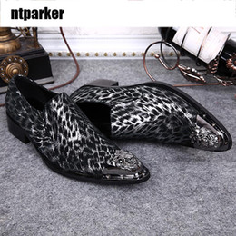 Wholesale Korean Oxford Shoes - ntparker Yiron tip of man's leather shoes Korean version of the influx of male personality nightclub hairstylist shoes
