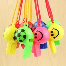 Wholesale Smile Stick - Cheerleader Whistling Smile Football Whistle Toys Kids Toy Cheering Tools For Games Toys 50 P L