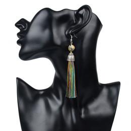 Wholesale Howlite Stone Earrings - Vintage Natural Stone Earrings Lava Tiger Eye Howlite Long Tassel Earrings Drop Boho Earrings Bohemian Women Jewelry