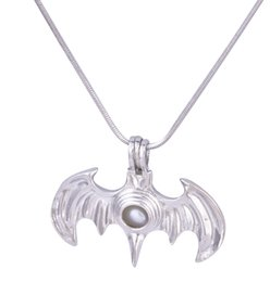 Wholesale Bat Pendants - 18KGP Pearl Cage Pendants Bat Shape Pearl Gem Beads Cage Oyster Lockets Pendants, DIY Necklace Jelwery