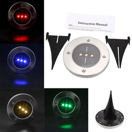 Wholesale Ground Controls - Wholesale- Solar Power LED Lawn Light Lamp Switch Control Ground Garden Pathway Outdoor