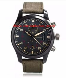 Wholesale Pilots Watches - Brand Factory Fashion 46 mm Pilots Anthracite Dial Chronograph Ceramic IW3880-02 Men Men's Watch
