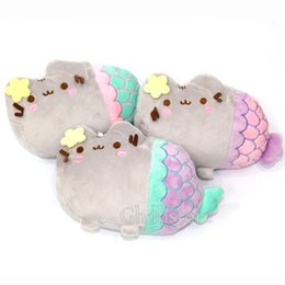 Wholesale Anime Dolls For Sale - 2016 Hot Sale 3 style Pusheen Mermaid Cosplay 20x13cm Plush Animal Doll Christmas Gifts For Kids