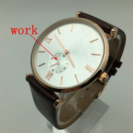 Wholesale Christmas Hand Work - high quality Small second hand work Replica watch Quartz Watch Business 3ATMwaterproof Watch Men Luxury Brand Men's Watches Christmas gift