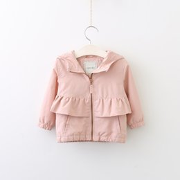 Wholesale Girls Lace Cardigan Coat - Everweekend Girls Agaric Laces Hooded Cardigan Cute Baby Zipper Leisure Fashion Fall Coat