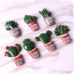 Bâton aimants en Ligne-Personnalité Aimant Réfrigérateur Laisser un Message Bâton Cuisine Ménagère Décorer Cadeaux Ensoleillé Jour Mini Résine Cactus Aimants 1 2qh C R