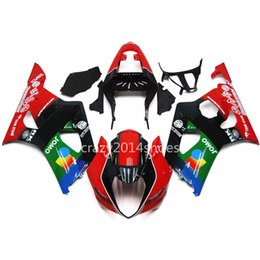 Wholesale Suzuki Fairing Kits Green - 5 free gifts New ABS motorcycle Fairing Kits 100% Fit For SUZUKI GSXR1000 03 04 K3 GSXR1000 2003 2004 nice red black blue and green nice 133