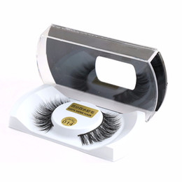 makeup black hair Promo Codes - 100% Real Mink Natural Thick False Fake Eyelashes Eye Lashes Makeup Extension Beauty Tools Wholesale Free Shipping