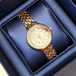 Wholesale Roll Bracelets - 2017 Fashion sexy lady watch with rolling diamond Stainless Steel Bracelet women Wristwatches Brand female clock gold silver