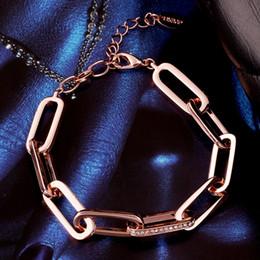 véritables bracelets en diamant Promotion Bijoux LCL Vente Chaude 2019 Nouveau 18K Véritable Plaqué Or Cristal CZ Bracelets De Diamants Bracelet Bijoux De Mode