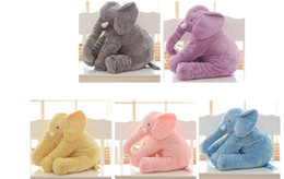 Wholesale Wholesale Baby Elephant Plush - Biggest 60cm Infant Soft Appease Elephant Playmate Calm Doll Baby Toys Elephant Pillow Plush Toys Stuffed Doll Girl Friend Gift first