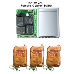 Wholesale rf module 433 - Wholesale- 433Mhz Universal Wireless Remote Control Switch DC12V 4CH relay Receiver Module and 3pcs 4 channel RF Remote 433 Mhz Transmitter