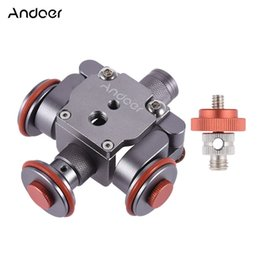 Wholesale Electric Light Kits - Andoer Electric Motorized 3-Wheel Video Pulley Car Dolly Rolling Slider Skater for Canon Nikon Sony Camera Camcorder D4385
