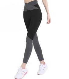 2019 leggings meilleure couleur Meilleur cadeau Nouveau sangles taille haute noeud papillon couleur pied exercice fitness leggings yoga LG044 Leggings pour femmes leggings meilleure couleur pas cher