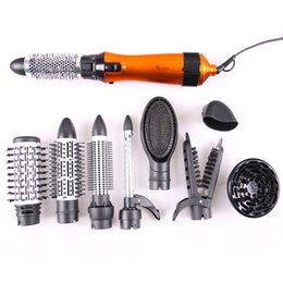 Wholesale Hot Air Comb - Women Styling Tools Set For Hair Salon Professional Hair Dryer With Combs Bag Pack 10 in 1 Multifunctional Hair Care Tool 220V 50Hz EU Plug