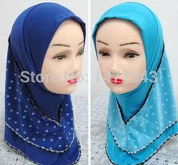 Wholesale Islamic For Kids - Wholesale-2016 new arrival cotton Shawl Wrap islamic kids Hijabs for girls size:5T-12T