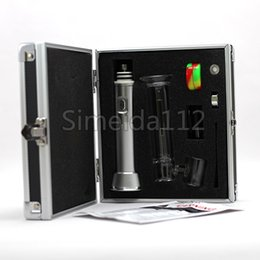 Wholesale Black Plastic Water Pipe - Electronic cigarette Wax oil dab hit vaporizer water smoking pipe with 2500mah battery