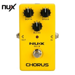 Wholesale Nux Guitar Effects - NUX CH-3 Protable Guitar Simulation Chorus Effect Device Guitar Effect Pedal Guitar Great Booster Yellow