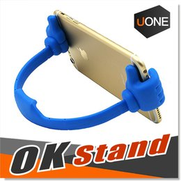 Wholesale Iphone Reader - Thumbs up Phone Tablet OK Stand Multi-Angle Portable Desktop Stands for Tablets E-readers and Smart phones Flexible ABS Plastic Phone Holder