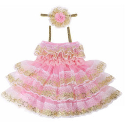 Wholesale Chiffon Fabric Dress Styles - Baby Pageant Girl Lace Dress Fabric Fairy Princess Cotton Chiffon Skirt Sleeveless Kids Children Clothing For Party
