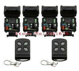 Wholesale rf control channel - Wholesale- RF mini Wireless Remote Control AC 220 V 1 channel 4 Receiver & 2 transmitter self-lock