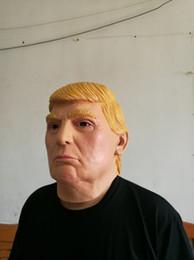 2019 kostüm donald Donald Trump Maske Präsidentenkostüm Latex Maske Ideal für Partys Halloween One Size Fit für die meisten günstig kostüm donald