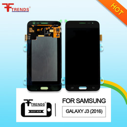 Wholesale Galaxy Lcd Digitizer Black - High Quality Super AMOLED AAA+++ Gold White Black LCD Touch Screen Digitizer For Samsung Galaxy J3 2016 J320 J320F J320FN with Repair Tools