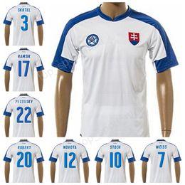 Wholesale Thailand Jerseys - Slovakia Soccer Jersey Custom 2017 2018 Thai 17 Marek Hamsik Football Shirts National Team 3 Martin Skrtel 20 Robert Mak Thailand Quality