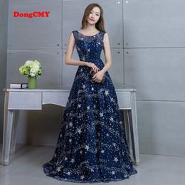 Wholesale Plus Size Taffeta - DongCMY 2018 new arrival party Long dress Vestido de Festa A-line appliques gown sexy evening dress