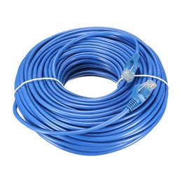 Wholesale Internet Cable Connectors - Wholesale- 30M UTP Internet Ethernet Cable Cat 5 RJ45 Network LAN Cable Male to Male Patch Connector Cord Tools For PC Computer Laptop