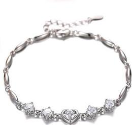 doces de valentim Desconto Loira de prata banhado a pulseira senhoras casal feminino jóias versão coreana do doce dom namorada presente do Dia dos Namorados