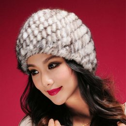 Wholesale High Quality Mink Hats - Wholesale-Women casual genuine mink fur cap lady winter real mink fur hat high quality free shipping women cap