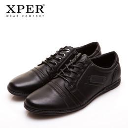 Wholesale Business Casual Hombre - 2016 XPER Brand Mens Casual Shoes Lace-up Brown Men Flats Shoes Business Shoes Flats Leisure Zapatos Hombre YM86835BL