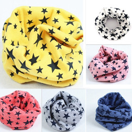 Wholesale Cotton Knit Scarves - Wholesale-1 pc Cotton Soft Lovely Star Children's Scarves Unisex Winter Knitting Stars Collar Neck Shawl Stole Warmer