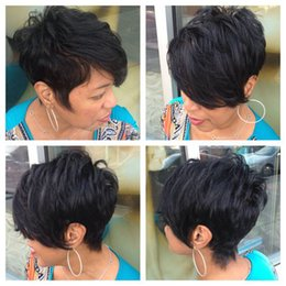 Wholesale Human hair Short straight wigs for Black women cheap full lace wigs Brazilian Pixie Cut Indian Human hair human hair wigs new wig
