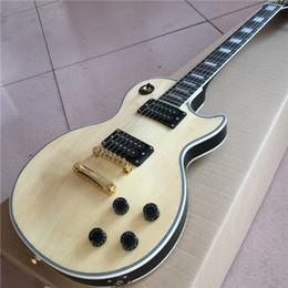 Canada La nouvelle belle guitare électrique au dessus de couleur naturelle et au dos noir, comme les photos, peut être personnalisée selon les besoins Offre